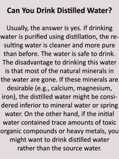 drinking distilled water